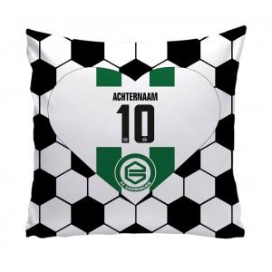 Kussen met hart 50x50 FC Groningen